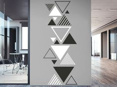 Wandtattoo Zweifarbiges Dreieck Ornament Order the Wall Decal Triangle Ornament here. Creative Wall Painting, Wall Painting Decor, Creative Walls, Diy Wall Art, Wall Paintings, Bedroom Wall Designs, Wall Decor Design, Wall Art Designs, Wall Paint Patterns