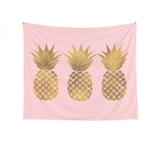Pink and Gold Pineapple by theroyalsass