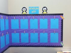 Art wall decor. Paper and clothespins. :) simple but easy way to display art in the classroom :)
