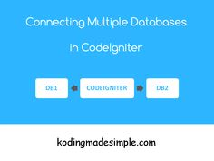 Connect Multiple DB in CodeIgniter | PHP | kodingmdsimple