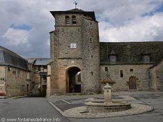 La Bastide-l'Évêque, Midi-Pyrénées : La Fontaine Place Centrale