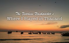 Where to stay in Thailand Thailand, Asia, Beach, Water, Outdoor, Water Water, Outdoors, Seaside, Outdoor Games