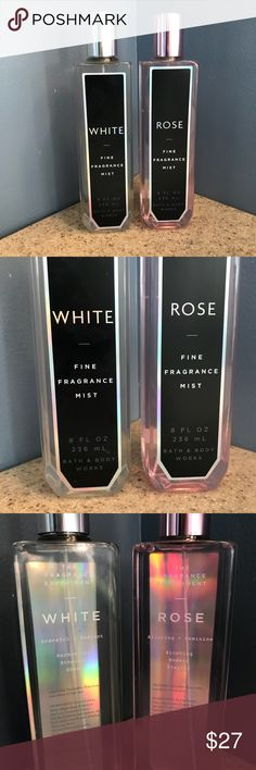 Bath and Body Works Spray White and Rose Bath and Body Works fine fragrance mist. 8 fl oz each. Not tested on animals. PINK Victoria's Secret Other