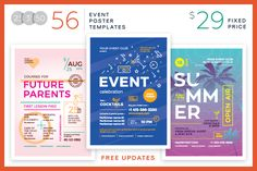 Schedule Event Poster Template   Schedule Event Poster