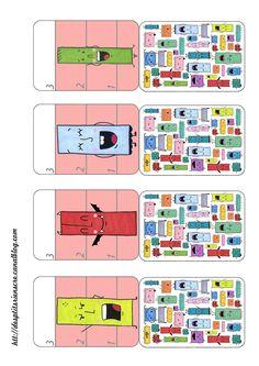 p'tite bataille à imprimer4d Montessori, Free Printables, Diagram, Classroom, Activities, Education, Crafts, Mini, Family Games