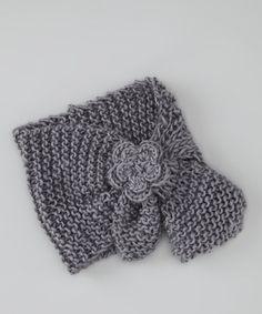 Gray Daisy Head Wrap