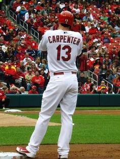 Matt Carpenter. St. Louis Cardinals baseball. I admire him for his work ethic, his values and his family!  Great people!  :) KT