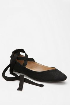 Kimchi Blue Sweetheart Ankle-Tie Skimmer, $29.00, available at Urban Outfitters.