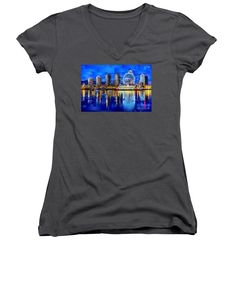 Women's V-Neck T-Shirt (Junior Cut) - Vancouver British Columbia Canada