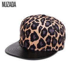 Brands NUZADA 2017 Leopard Men Women Baseball Cap Snapback Printing Flowers  Couple Hip Hop Hats Quality Cotton Caps Bone 002a6e639be2
