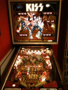 KISS pinball machine, wish I had one of these babies. It plays Rock and Roll All Nite.