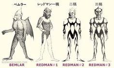 ウルトラマンの企画当初の名前は「ベムラー」。そして「レッドマン」へ。