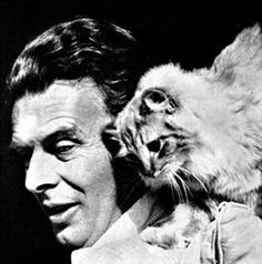 """Aldous Huxley, 1950: """"if you want to be a psychological novelist ... keep a pair of cats."""""""