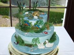 My wedding cake. Well when Gill's become Rivett's only a pond themed wedding will do!