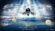 Sports photo manipulation of Michael Phelps.