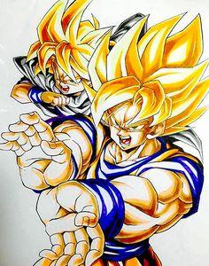 Goku e Gohan Goku Manga, Manga Dragon, Chibi Goku, Dragon Ball Gt, Anime Echii, Anime Art, Broly Ssj4, Goku And Gohan, Son Goku
