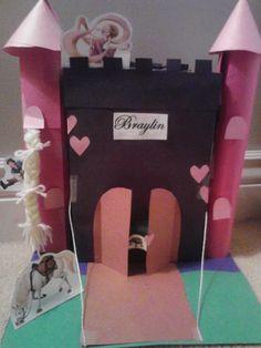 Valentineu0027s Box #Valentine Box Castle Valentine Box. Use Cereal Box And  Toilet Paper Rolls