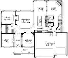 Two-Story Great Room - 73317HS | Northwest, Traditional, Luxury, Photo Gallery, Premium Collection, 2nd Floor Master Suite, Butler Walk-in Pantry, CAD Available, Den-Office-Library-Study, Jack & Jill Bath, Loft, MBR Sitting Area, Multi Stairs to 2nd Floor, PDF | Architectural Designs