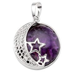 JOVIVI Natural Gemstones Moon and Star Healing Crystal Chakra Pendant Necklace with 21.5in Stainless Steel Chain:   *Thank you for visiting JOVIVI Store. We are specializing in jewelry making beads and findings.brbr *If you like this product, we advise you add it to wish list now, so that we will inform you immediately once it has a discount.brbr *And you can click our brand name which on the top of the title; you can find more jewelry making beads with high quality and reasonable pric...