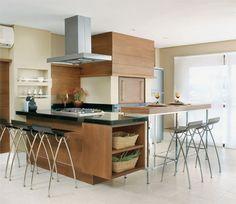 Cozinhas e espaços gourmets: 47 ideias - Casa