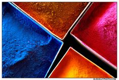 Red Green Blue and Holi Colors, Pigment Powder, Make Color, World Of Color, Beautiful World, Beautiful Things, Art Studios, Red Green, Amazing Art