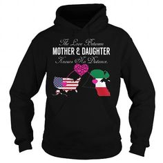 The Love Between Mother and Daughter United States Kuwait T Shirts, Hoodies. Check price ==► https://www.sunfrog.com/States/The-Love-Between-Mother-and-Daughter--United-States-Kuwait-Black-Hoodie.html?41382