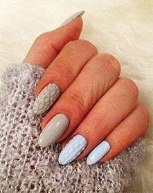 Zobacz zdjęcie Sweterek na paznokciach- mój ulubiony look <3