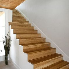 clean with white skirt. Staircase Modern Stair Design, Pictures, Remodel, Decor and Ideas - page 17