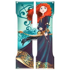 Merida Brave Disney Princess Metal Letter - H⎜Open Road Brands
