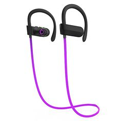 Running Headphones TOOPOOT Wireless Bluetooth Sport Earphone with Hook for Iphone Samsung purple -- Read more reviews of the product by visiting the link on the image.-It is an affiliate link to Amazon.