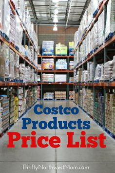 Find over 1000 Costco items listed with their prices to compare prices with, so you will know if you are getting the best deal or not!