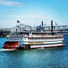 The Belle of Louisville taking a summer cruise on the Ohio River. The Belle turns 99 years old this year.