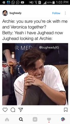 Riverdale humour & The post Riverdale humour appeared first on Riverdale Memes. Riverdale Quotes, Bughead Riverdale, Riverdale Funny, Zack Y Cody, Riverdale Cole Sprouse, Funny Memes, Jokes, Funny Quotes, Humor