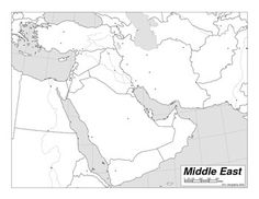 map of middle east countries middle east countries map