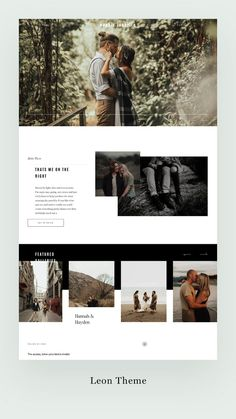 Leon - Flothemes : Designed for both photographers & videographers Leon adds a playfully daring yet elegant vibe to any website. Wedding family & destination as well as lifestyle photographers will love it. Site Web Design, Creative Web Design, Website Design Layout, Web Design Trends, Web Design Company, Ios Design, Dashboard Design, Photography Website Templates, Photography Website Design