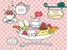 Sanx Nyan Nyan Nyanko Kawaii white cat character as food
