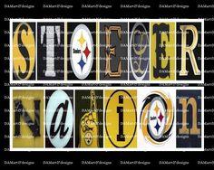 NFL Pittsburgh Steeler Framed Alphabet Photo Art by DAMartStudio on Etsy