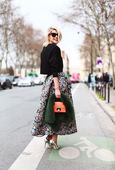 SOFIE VALKIERS | Sofie wears a skirt by Red #Valentino, top by #Zara and accessories by Jimmy Choo rabel bag and Jo No Fui, dior tribal earrings