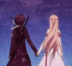 Asuna and kirito love ~ Sword art online Schwertkunst Online, Online Anime, Kirito Sao, Sword Art Online Asuna, Sao Fanart, Fantasy Romance Novels, Sao Characters, Sword Art Online Wallpaper, Fan Art