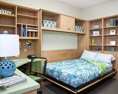 Teen Desk & Side Tilt Wall Bed