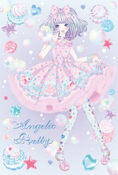 Angelic Pretty art. Words cannot describe how much I love the dress pattern!