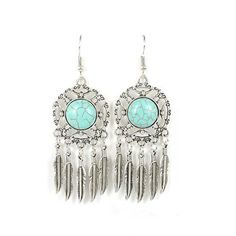 Ethnic Bohemia Tibetan Silver Indian Earrings For Women Dream catcher Hollow Out Vintage Leaf Feather Statement Drop Earring #Indian fashion http://www.ku-ki-shop.com/shop/indian-fashion/ethnic-bohemia-tibetan-silver-indian-earrings-for-women-dream-catcher-hollow-out-vintage-leaf-feather-statement-drop-earring/