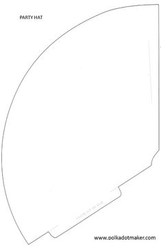 foldable hat coloring pages | Printable Paper Cone Template. I needed this about a month ...