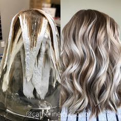 "3,041 Likes, 37 Comments - Michigan Balayage Artist (@catherinelovescolor) on Instagram: ""⭐️Balayage application and finished⭐️ @oligopro blacklight clay lightener 40vol with @uberliss and…"""