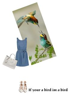 """Bird: ------------"" by fun-time ❤ liked on Polyvore featuring moda, Oasis, Prada, Gianvito Rossi, bird i polyvoreeditorial"