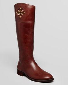 Tory Burch Riding Boots - Kiernan Flat | Bloomingdale's