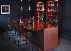 Copper and Smoked Oak Bar in a Private House in Devon. #Copper #Bar