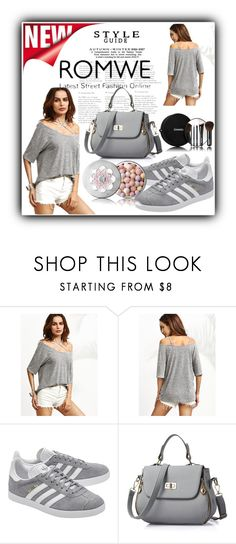 """""""romwe"""" by fatimka-becirovic ❤ liked on Polyvore featuring adidas Originals, Chanel and Guerlain"""