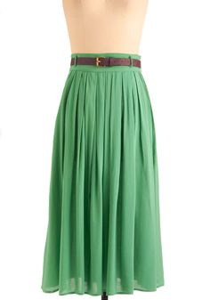 Swish and Spin Skirt in Green | Mod Retro Vintage Skirts | ModCloth.com