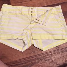 Neon green striped shorts Gently used shorts American Eagle Outfitters Shorts Jean Shorts